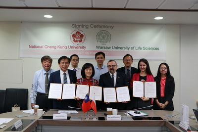NCKU Signs MoU with Warsaw University of Life Sciences