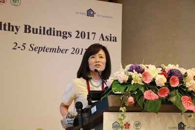 NCKU President delivers a keynote speech about indoor air quality on Healthy Buildings 2017